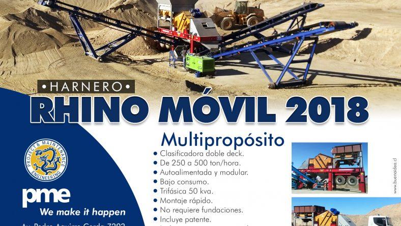 PME Ofrece Unidad Harnero Rhino Móvil 2018